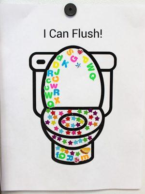 How I got my child to flush