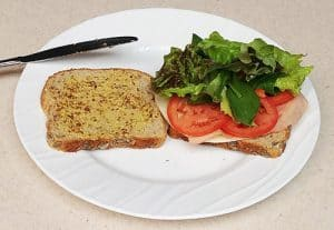 Dijon mustard sandwich