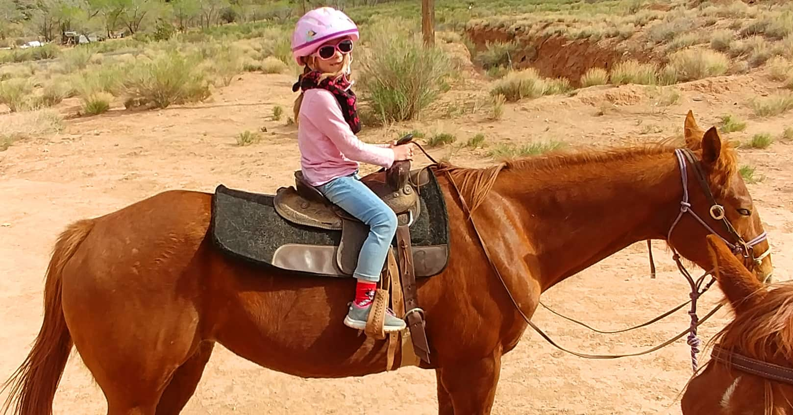 taking children horseback riding for spring break teyla rachel branton