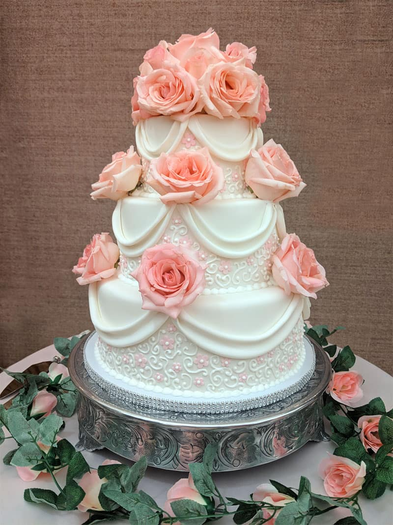 Lily's wedding cake