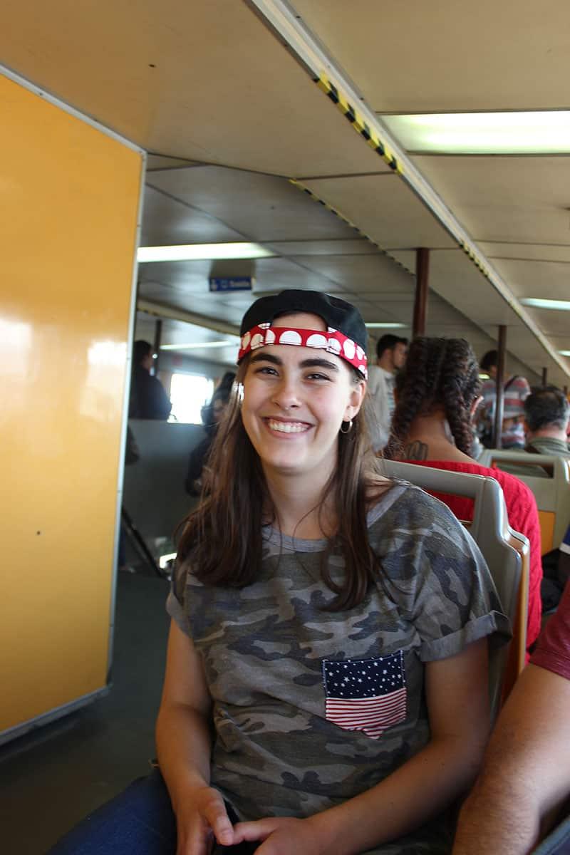 Liana on the ferry