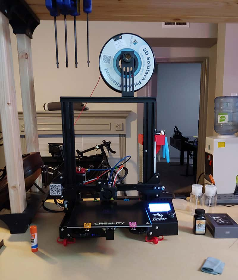 Workshop with 3D printer