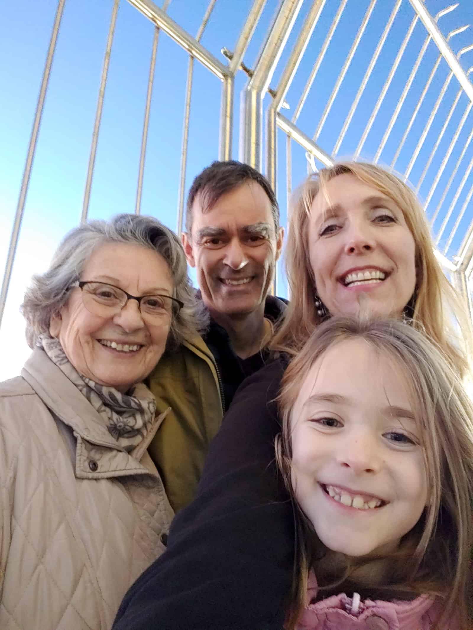 family at Cristo Rei