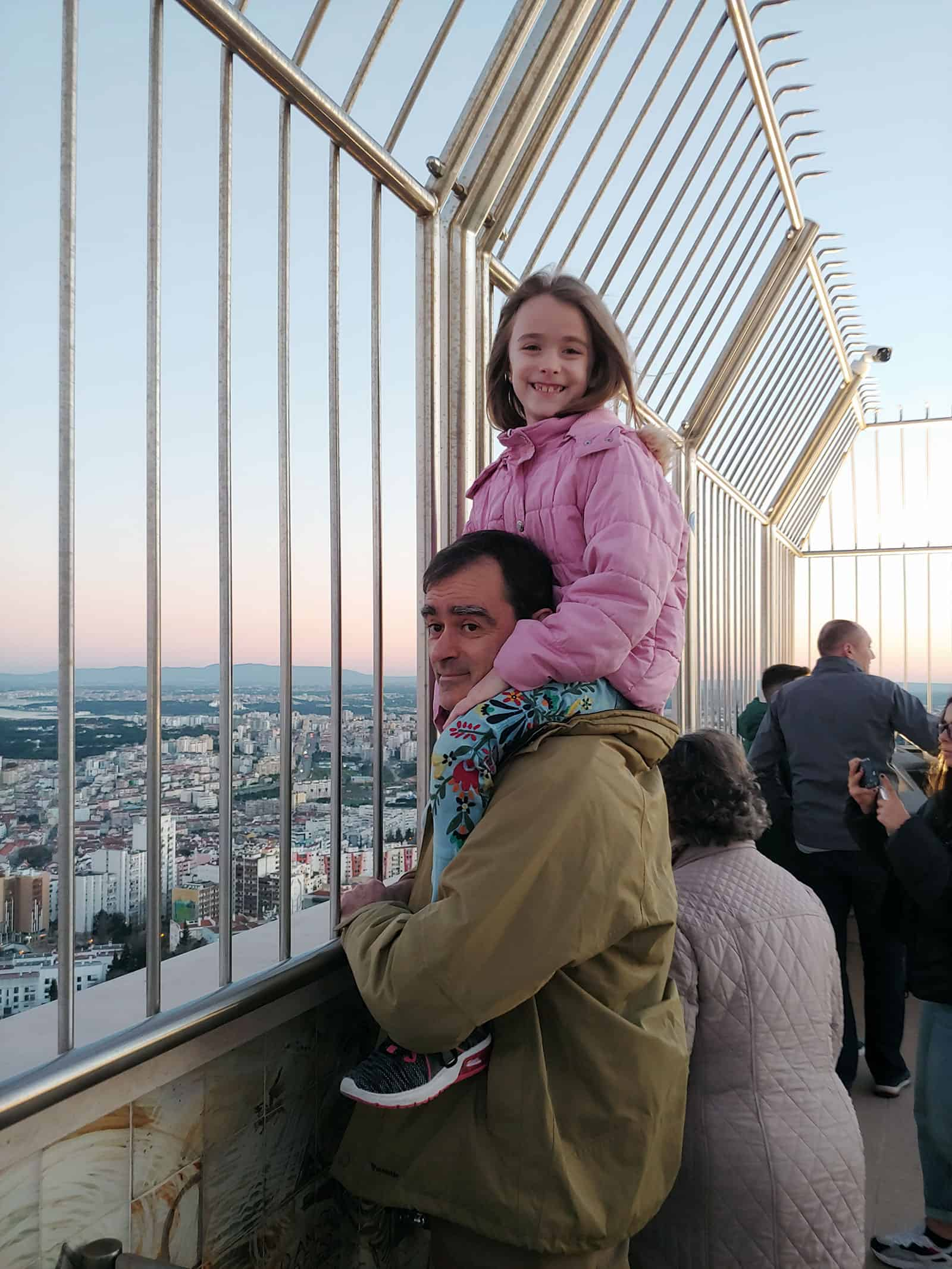 Lisbon and TJ at Cristo Rei